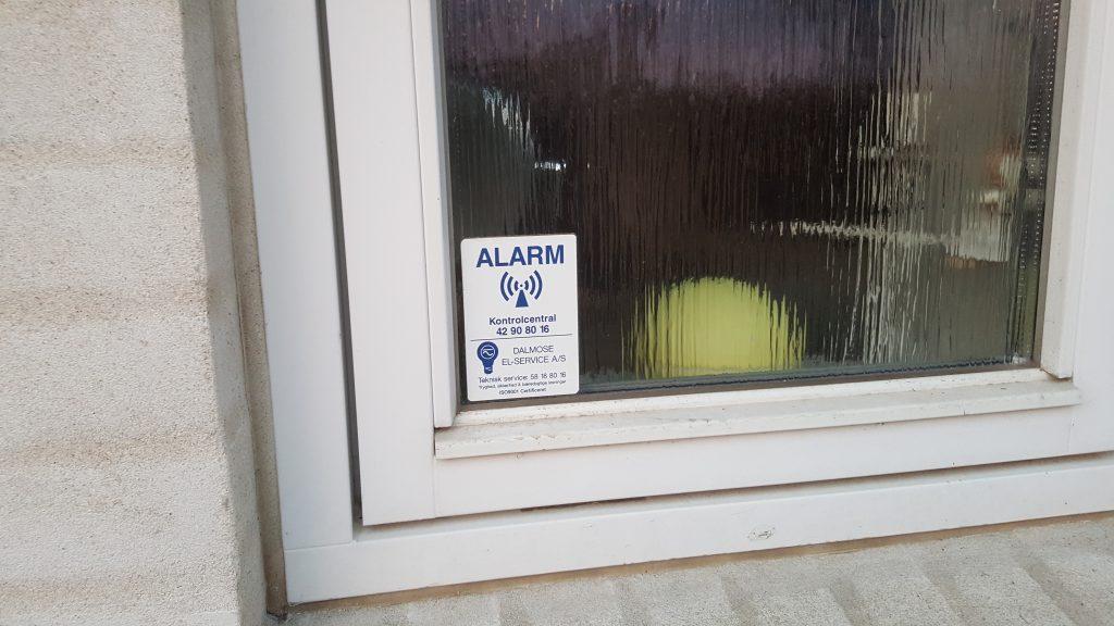 alarm til huset